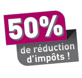 Réduction fiscale de 50%